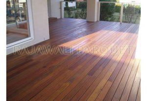 harga lantai kayu outdoor decking bengkirai terpasang