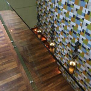 papan tangga jati tanpa sambung