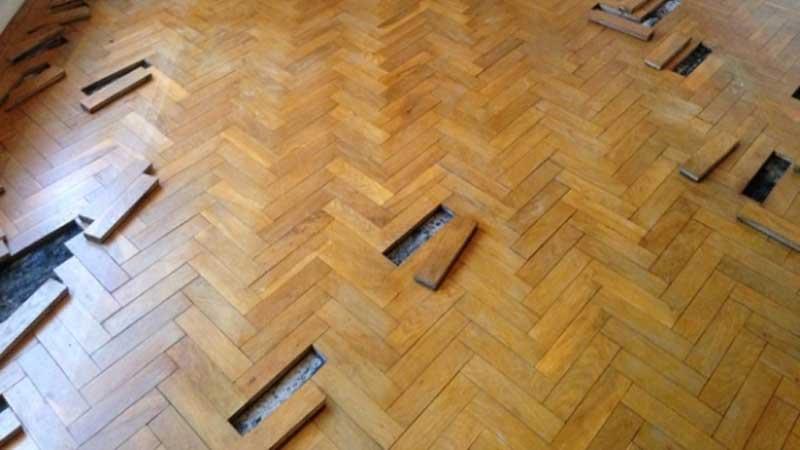 langkah mudah memperbaiki lantai parket kayu yang rusak