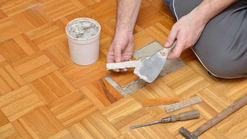metode perbaikan lantai kayu solid dirumah