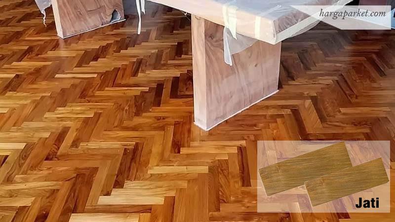 flooring parket kayu jati