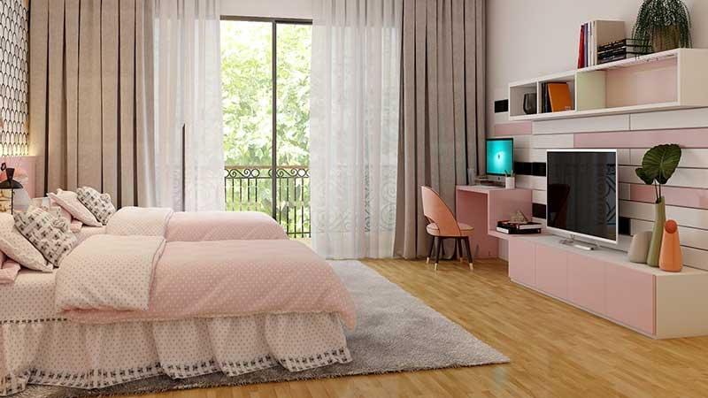 flooring parket sungkai untuk kamar tidur