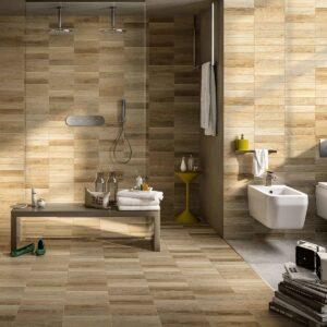Desain interior parquet dinding
