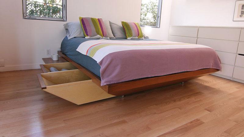 desain lantai kamar tidur minimalis