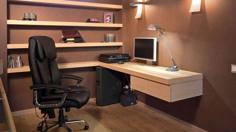 lantai kayu laminated ruang kerja