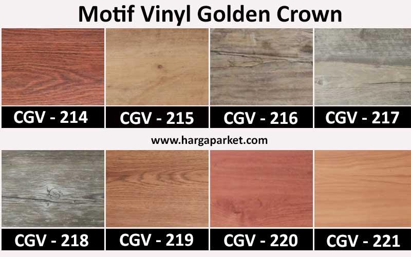motif lantai vinyl golden crown