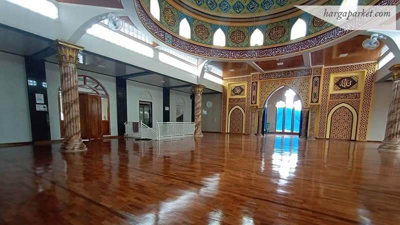 Lantai kayu Jati Grade A Masjid