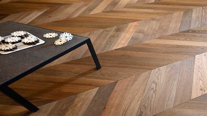 tampilan lantai kayu sangat natural