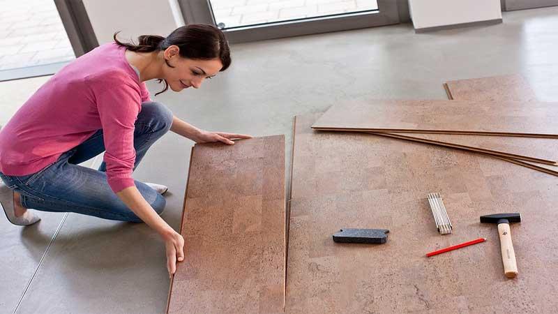 penerapan lantai vinyl tergolong cukup mudah