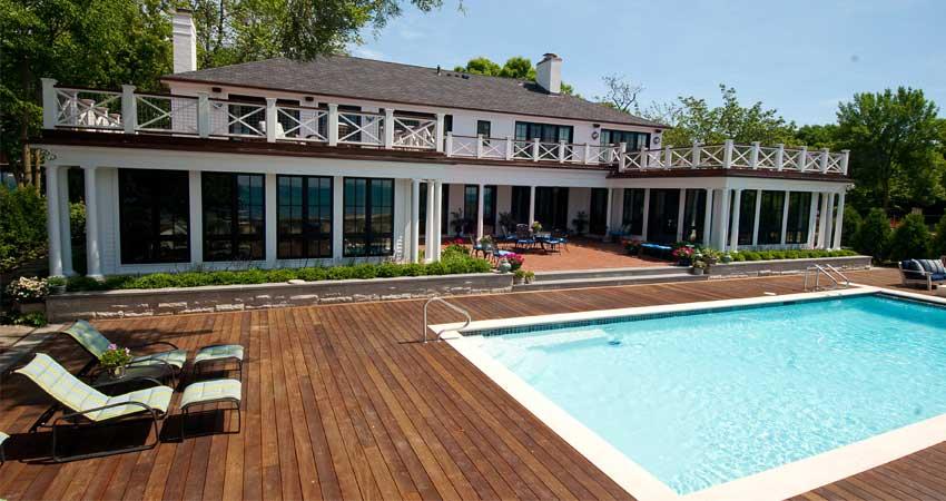 desain decking kolam renang minimalis