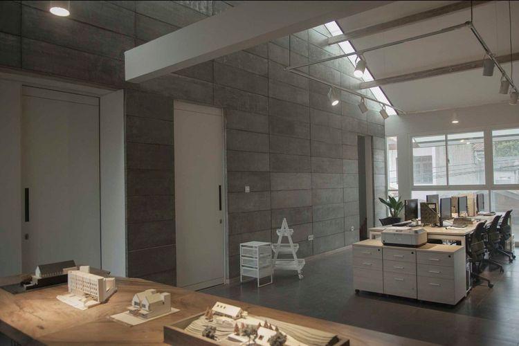 material lantai kantor menggunakan lantai beton