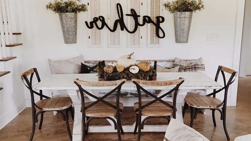 dekorasi dinding ruang makan modern