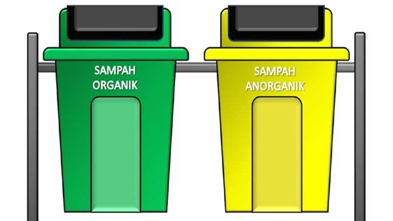 sediakan 2 tempat sampah yang berbeda yakni organik & anorganik