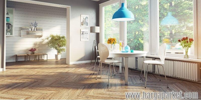 keunggulan lantai kayu - meningkatkan nilai estetika