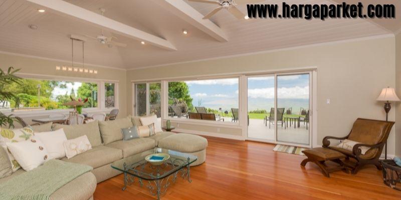 Material Lantai Terbaik  Untuk Ruang Tamu - lantai kayu solid