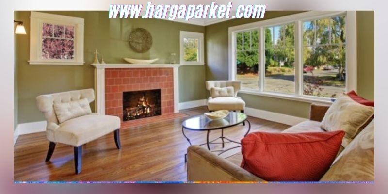 Ide Dekorasi Ruang Keluarga - menggunakan lantai kayu vinyl