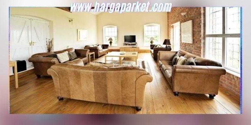 Ide Dekorasi Ruang Keluarga - menggunakan lantai kayu laminated