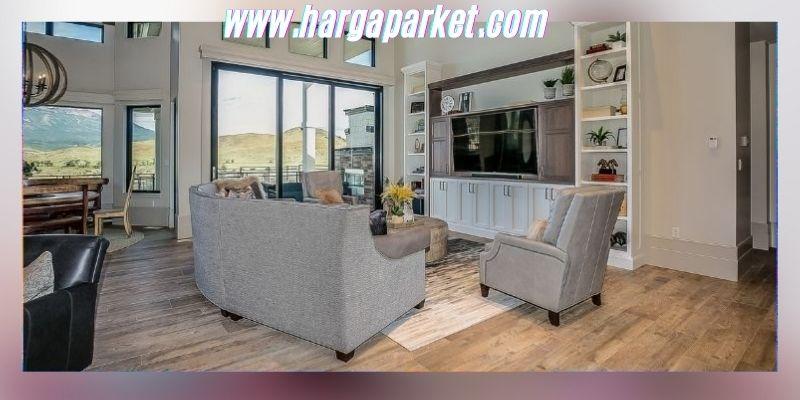 Ide Dekorasi Ruang Keluarga - menggunakan lantai kayu spc