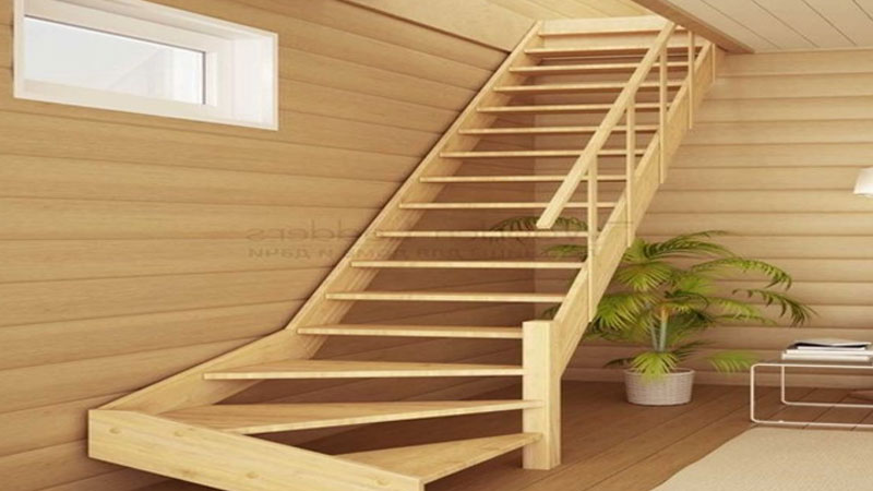 rekomendasi desain tangga kayu minimalis