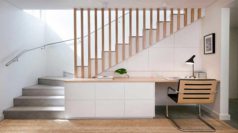 desain tangga minimalis mix material