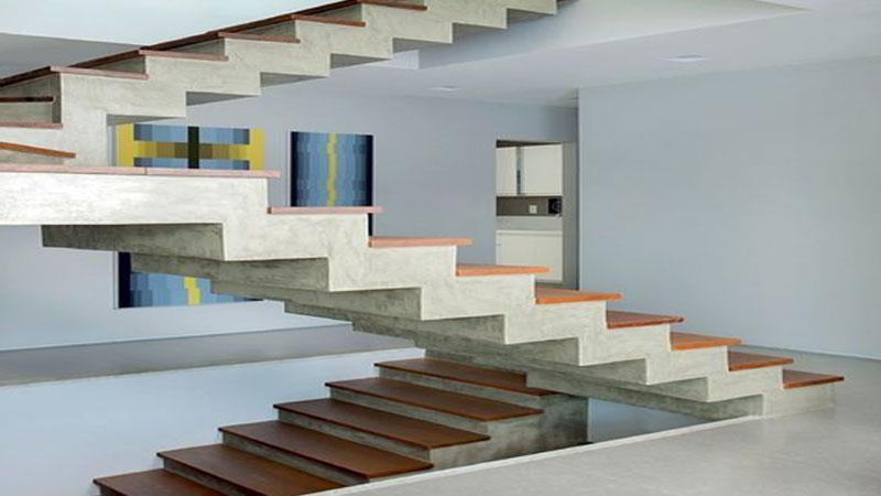 desain anak tangga zigzag