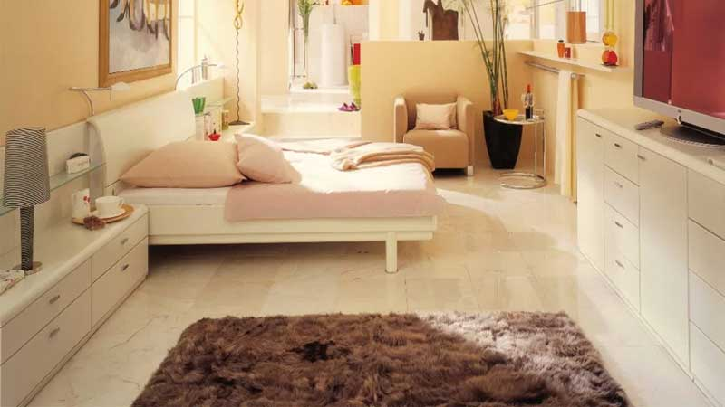 pemilihan karpet bulu untuk kamar korea modern