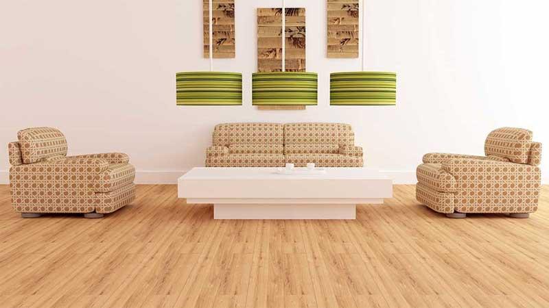 inspirasi lantai spc di ruang tamu minimalis